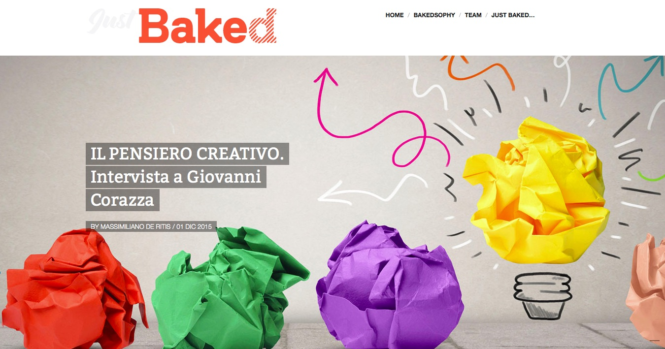 Prof. Giovanni Emanuele Corazza – Just Baked Magazine interview